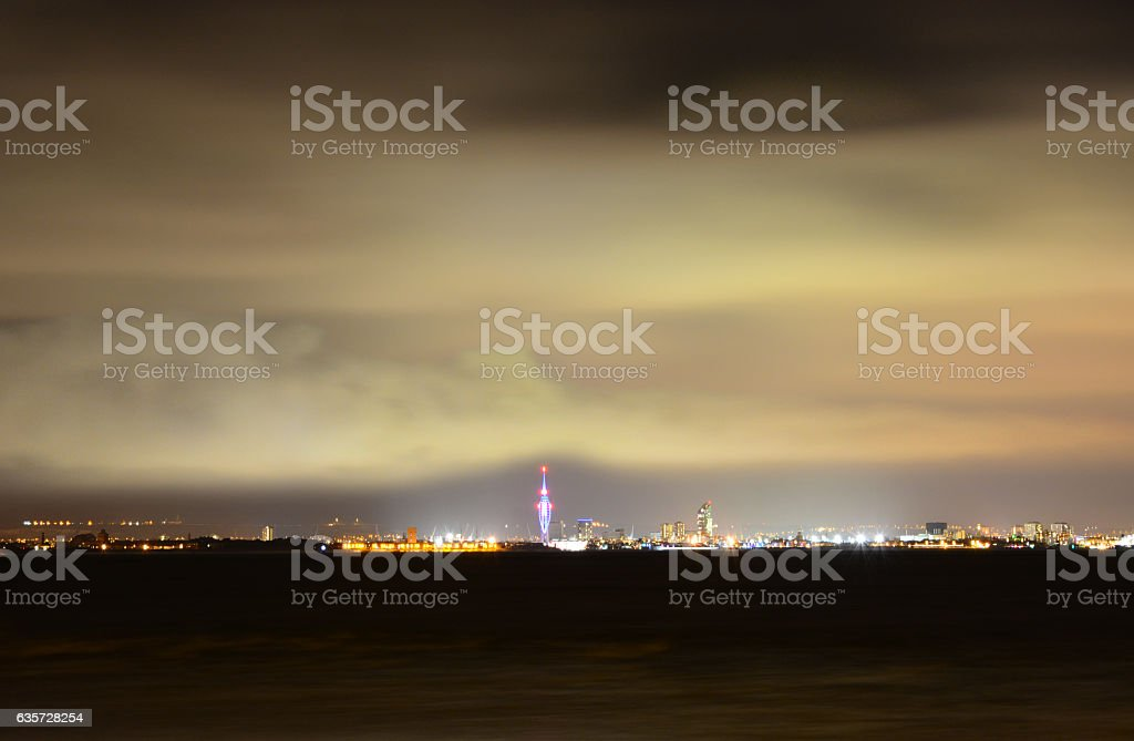 Cloud Bank Over Spinnaker Tower stock photo