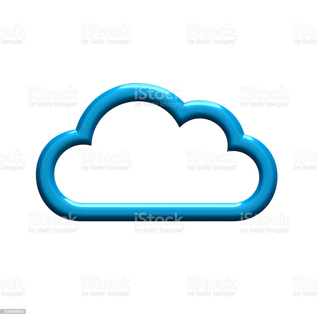 Cloud Border. 3D Render Illustration royalty-free stock photo