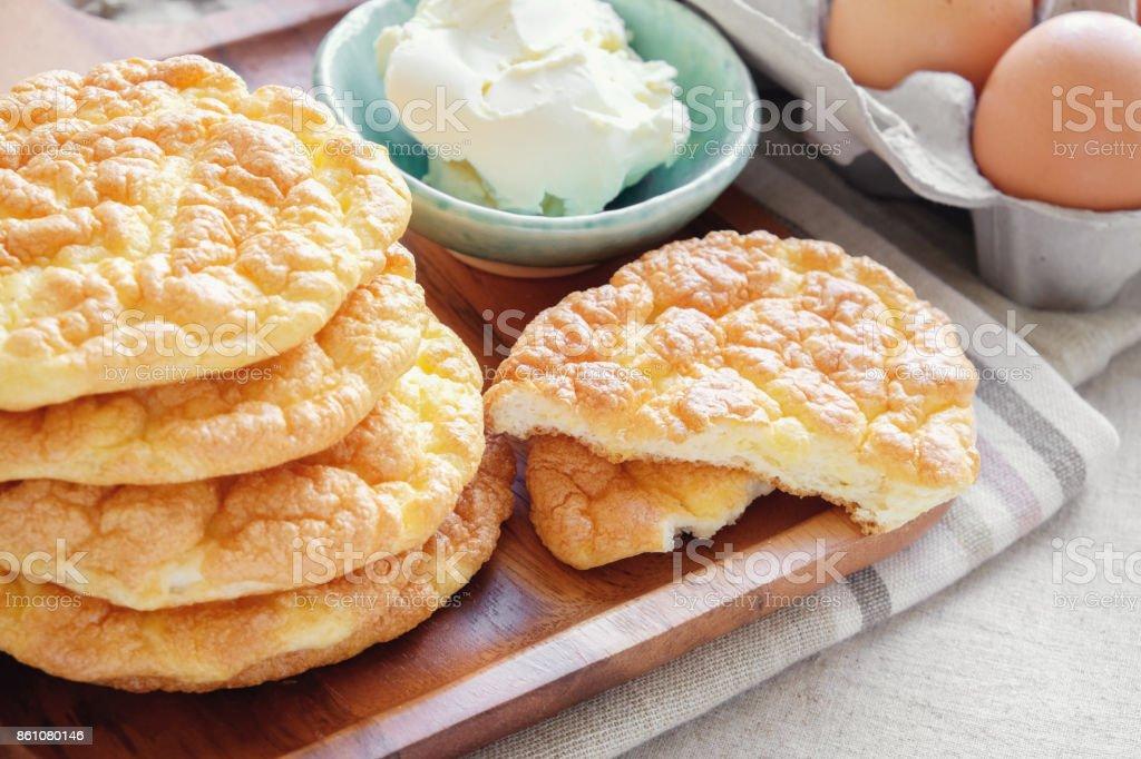 Wolke Brot Beitrag Keto Ketogene Diat Paleo Lowcarb Fettreiche Stock