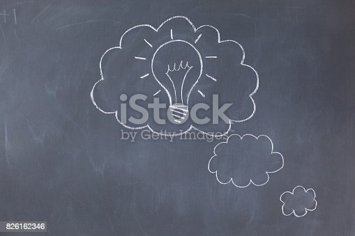 istock Cloud bubbles on a blackboard 826162346