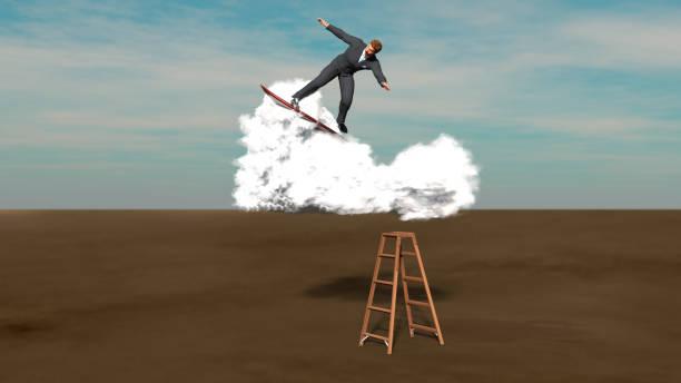 cloud-business-surfen - digital surfer stock-fotos und bilder