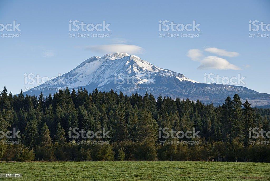 Cloud Cap on Mount Adams royalty-free stock photo