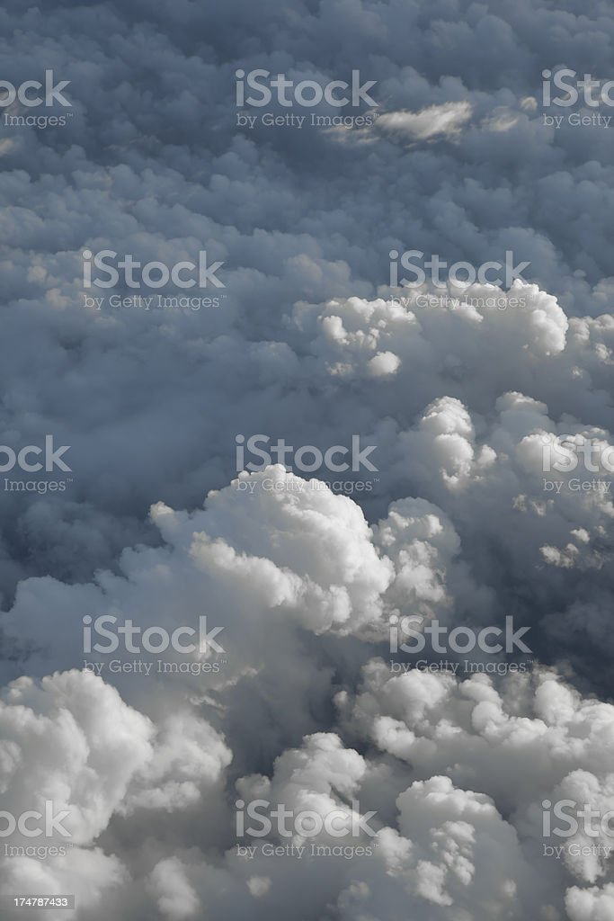 Cloud ceiling from airplane royalty-free stock photo