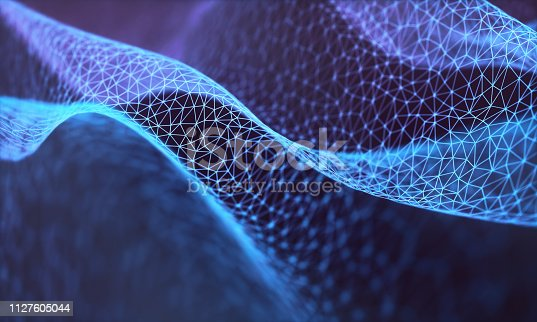 Colorful abstract image with organic shape. Network connection, background technology concept.
