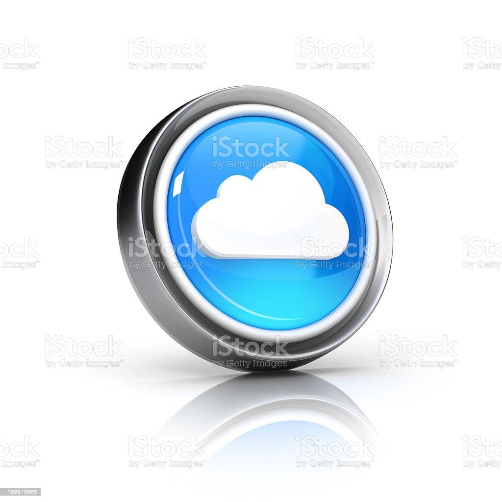 cloud computing & storage icon royalty-free stock photo