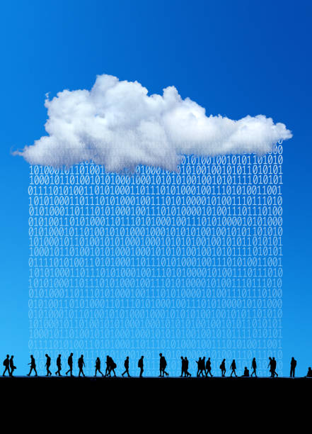 cloud computing and artificial intelligent technology stock photo