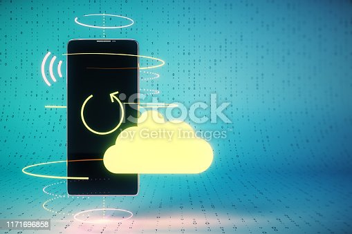 istock Cloud computing and database concept 1171696858