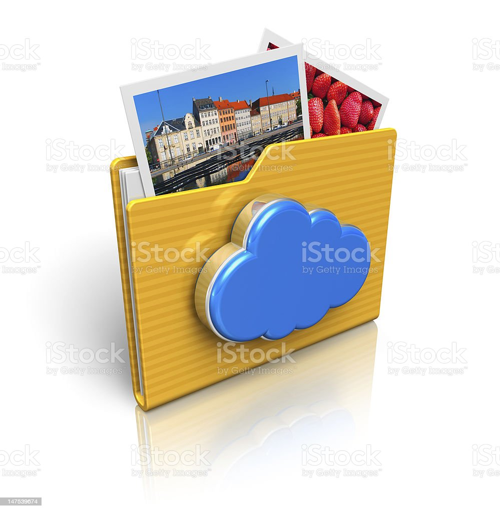 Cloud computing and media storage concept royalty-free stock photo