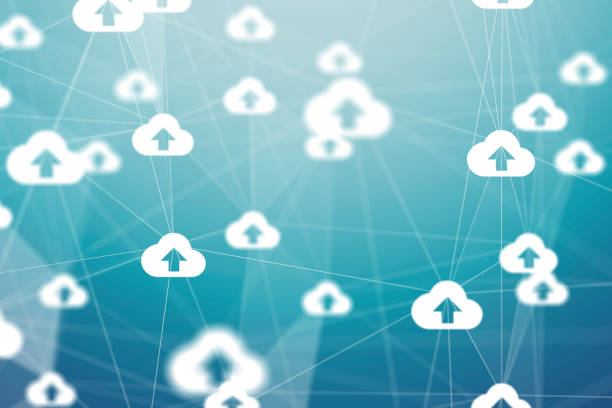 Cloud Computing and Network Concept stock photo