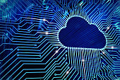 istock Cloud computing and network security technology concept 846400236