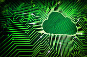 istock Cloud computing and network security technology concept 846400346