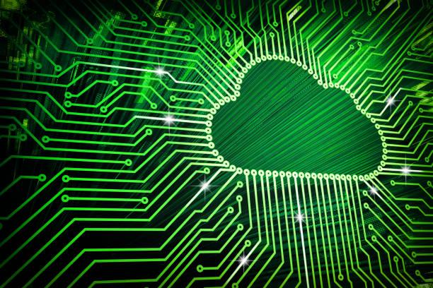 Cloud computing und Netzwerk Technik Sicherheitskonzept – Foto