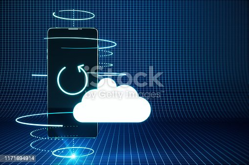 istock Cloud computing and safety concept 1171694914