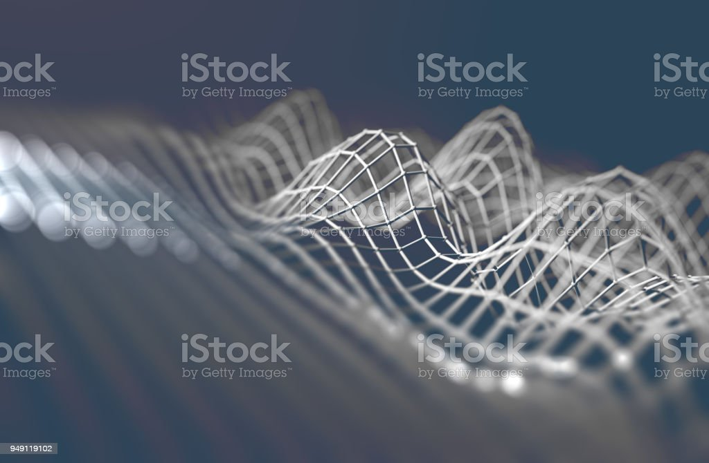 Cloud computing and tech design.3d rendering stock photo