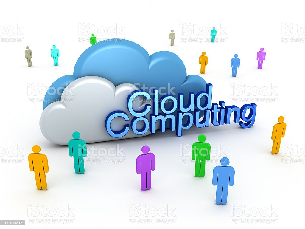 Cloud Computing and user group. royalty-free stock photo