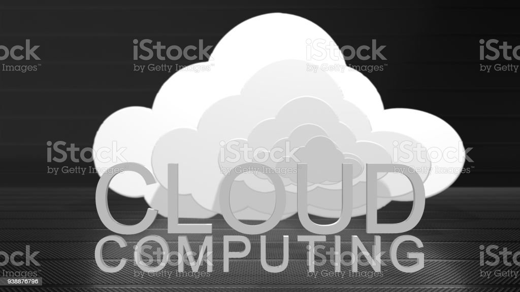 Cloud computing big data internet of things IoT online storage technology stock photo