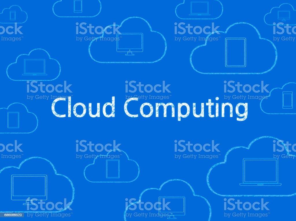Cloud Computing - Business Chalkboard Background zbiór zdjęć royalty-free