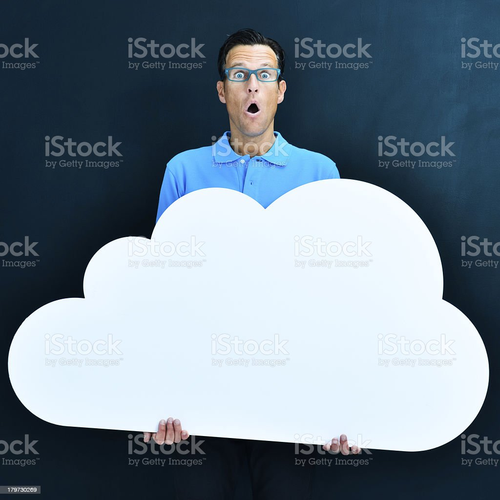 Cloud computing: choosing big option royalty-free stock photo