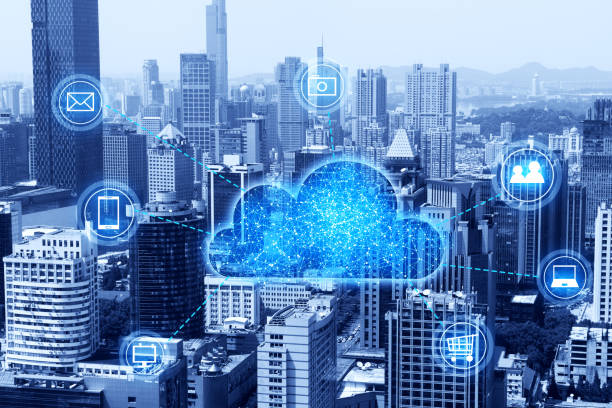 cloud computing concept and big data - cloud software stock photos and pictures