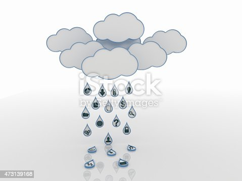 istock Cloud Computing Concept Background with Symbols 473139168