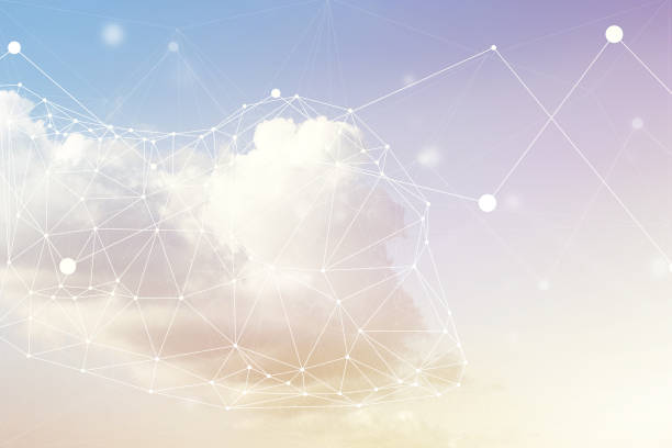 Cloud Computing Concept Cloud computing imagery. cloud computing stock pictures, royalty-free photos & images