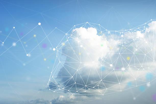 concepto de computación en la nube - nube fotografías e imágenes de stock