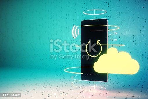 istock Cloud computing concept 1171696097