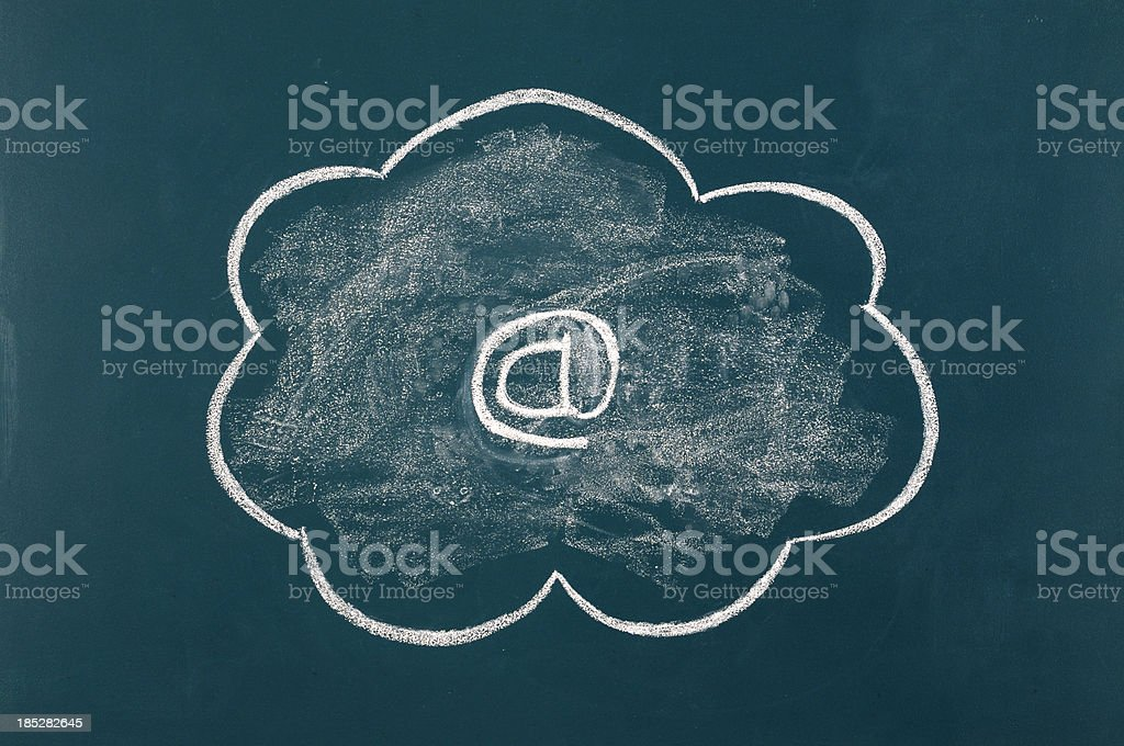 Cloud Computing Concept. royalty-free stock photo