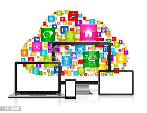 istock Cloud computing concept 498919652