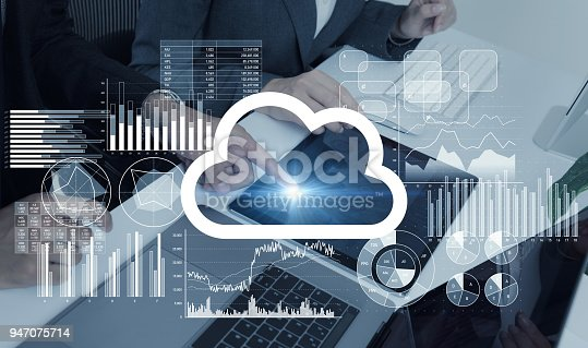 istock Cloud computing concept. 947075714