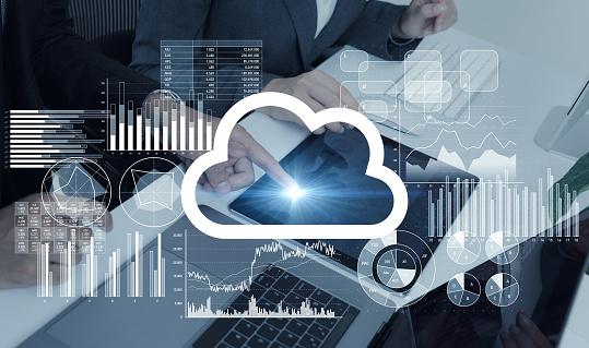 istock Cloud computing concept. 947075714