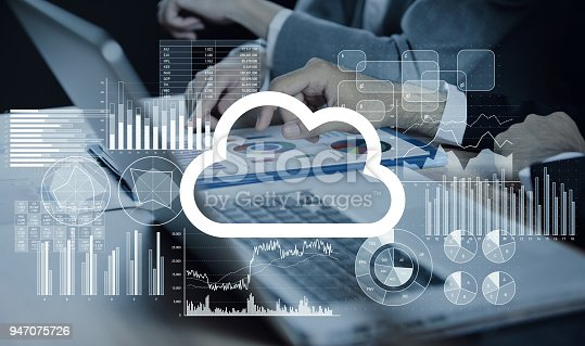 istock Cloud computing concept. 947075726