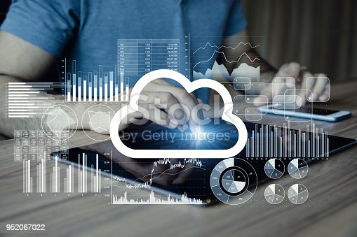861122560 istock photo Cloud computing concept. 952067022