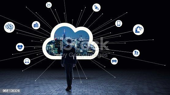 istock Cloud computing concept. 968108326