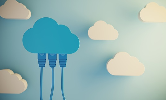 istock Cloud Computing Concept With Network Cable 1141948828