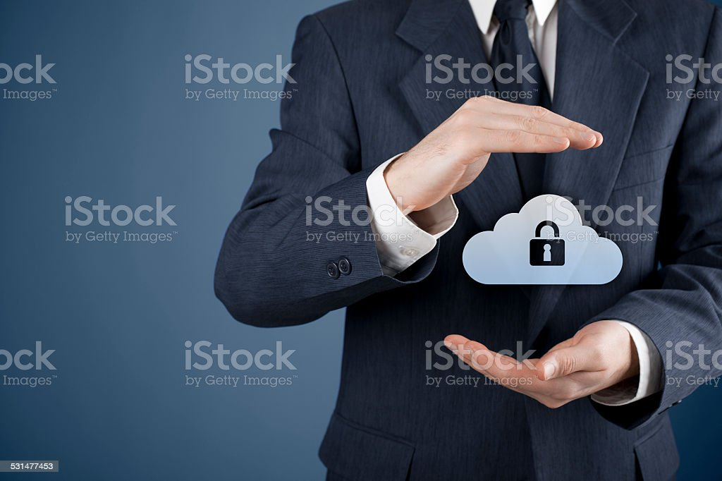 Cloud computing data security stock photo