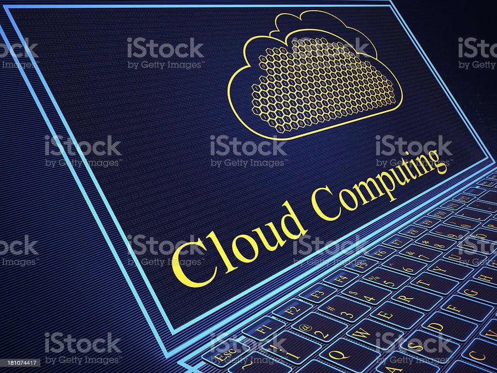 Cloud computing digital background royalty-free stock photo