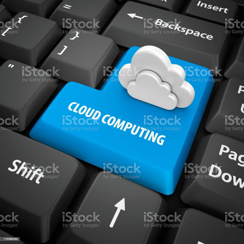cloud computing enter key royalty-free stock photo