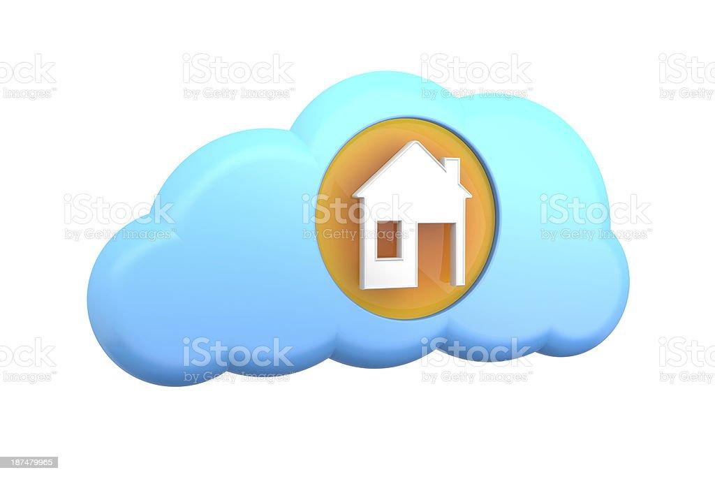 cloud computing icon: home royalty-free stock photo