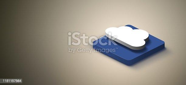 1151943994 istock photo 3D cloud computing icon 1151157564