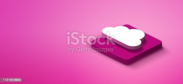 istock 3D cloud computing icon 1151943994