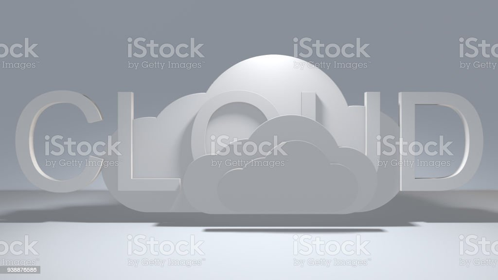 Cloud computing Internet of things IoT connected mobile device network stock photo