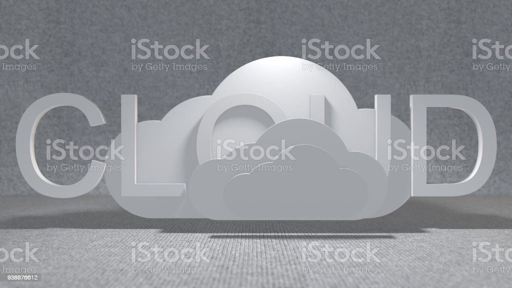 Cloud computing Internet of things (IoT) network with connectivity 3d render stock photo