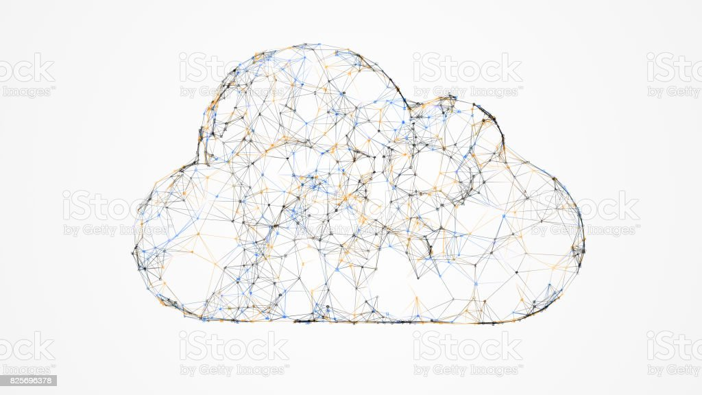 cloud computing, IT concept of the cloud technologies royalty-free stock photo