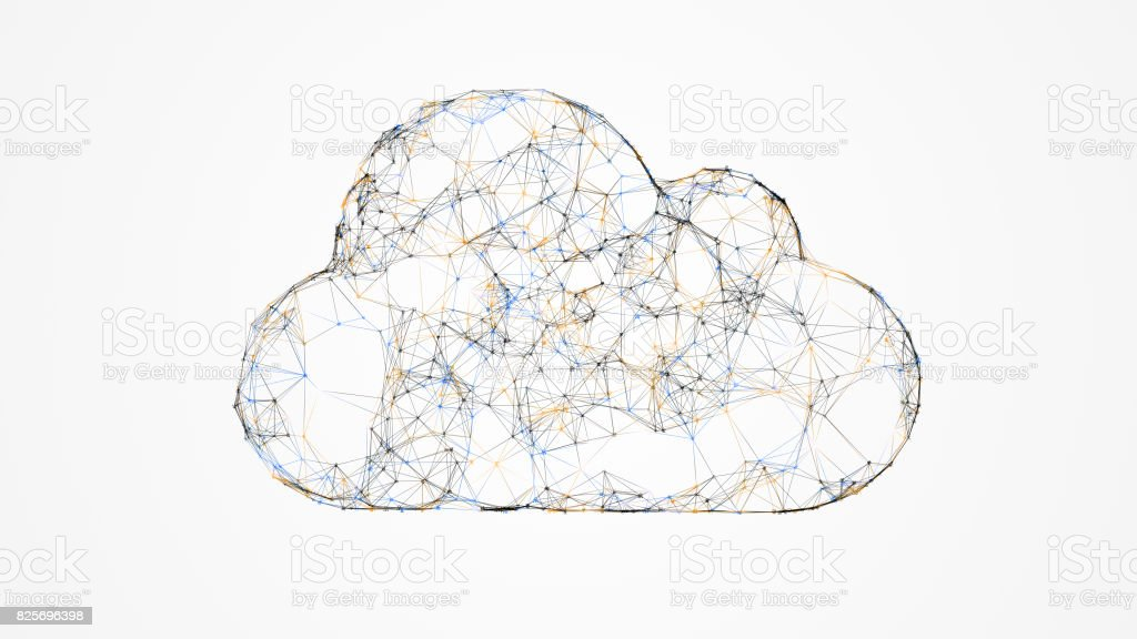 cloud computing, IT concept of the cloud technologies stock photo
