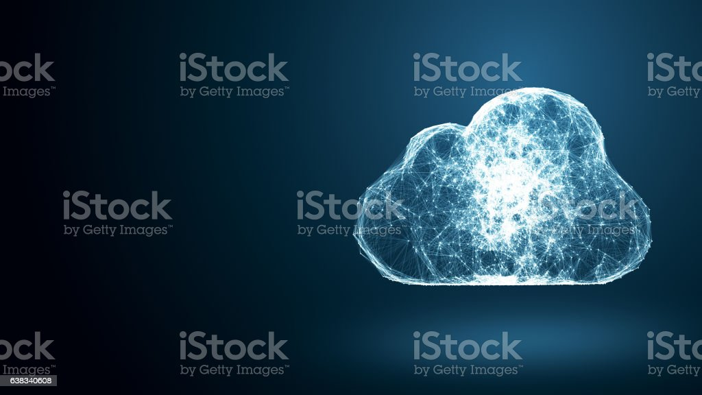 cloud computing network conception stock photo