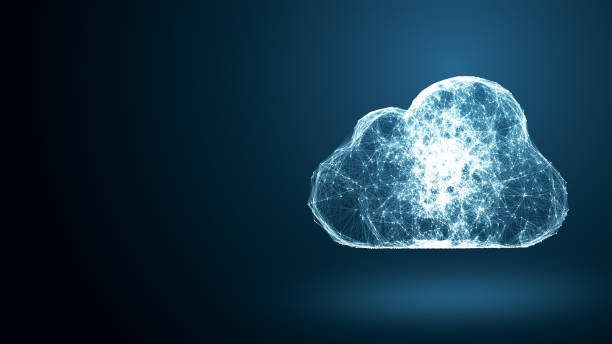 cloud computing network conception - informatique en nuage photos et images de collection