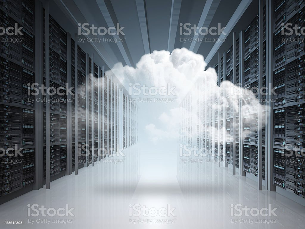 Cloud computing  networking concept stock photo