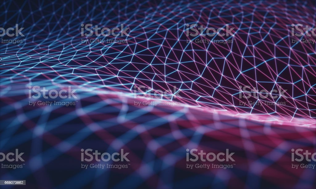 Cloud Computing / Neural Network stock photo