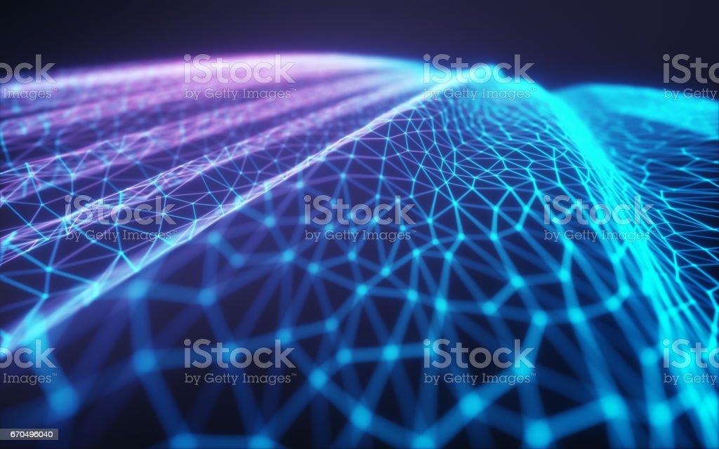 Cloud Computing / Neural Network stock photo